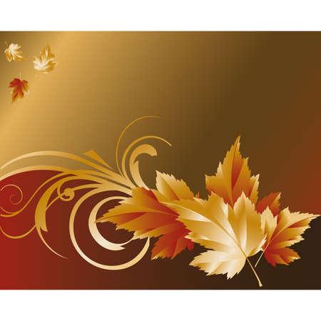 Autumn gold background Stock Vector - 7474727