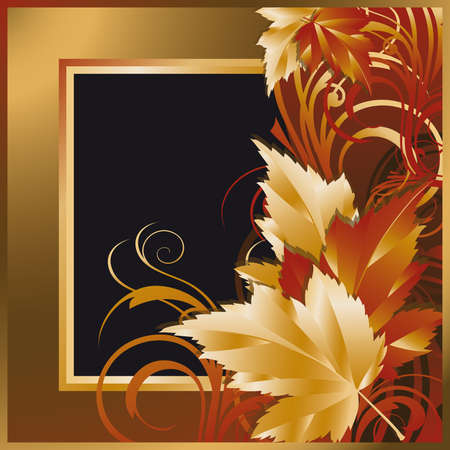 Tarjeta de oto�o con marcos fotogr�ficos