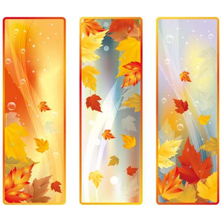 Set autumn banners Stock Vector - 7587418
