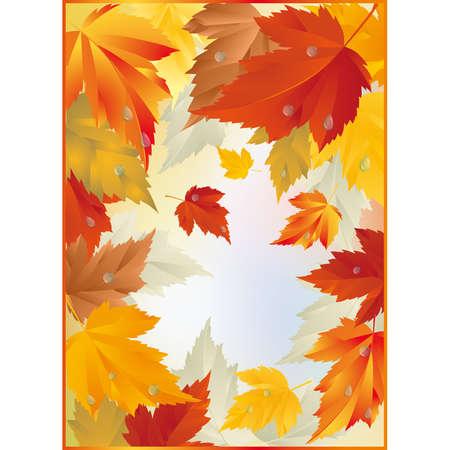 autumn fashion: Autumn card  Illustration