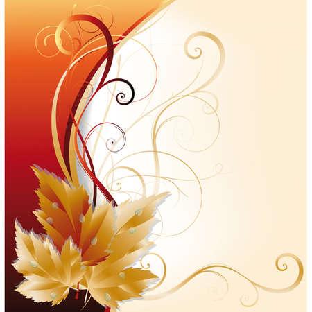 Autumn card  Stock Vector - 7587411