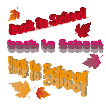 Back to School letters in 3d image Stock Vector - 7587413