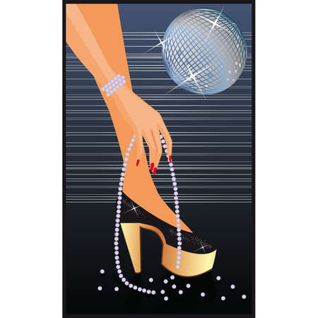 Night-time disco card  Vector
