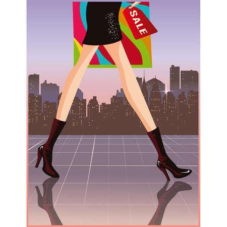 Shopping card Stock Vector - 7696912