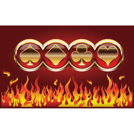 wager: Poker symbols