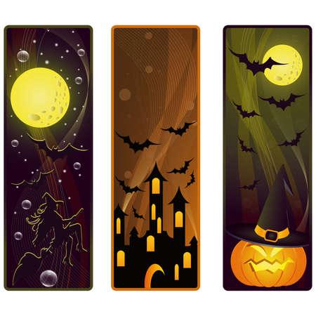 vector banners on a Halloween theme Stock Vector - 7844640