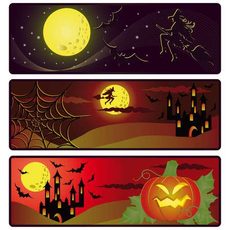 Halloween banners. vector  Vector