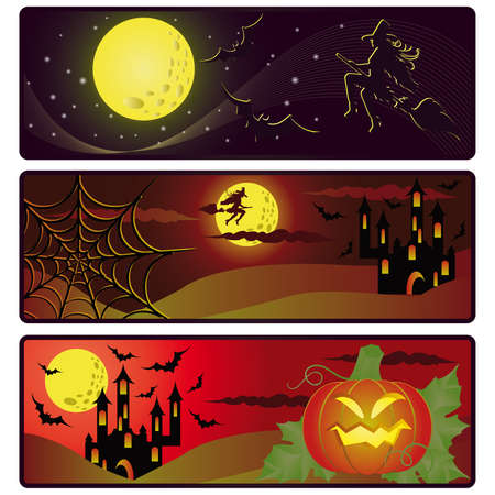 bewitched: Halloween banners. vector