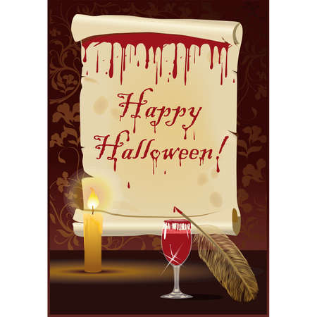 Happy Halloween card,  illustration Vector