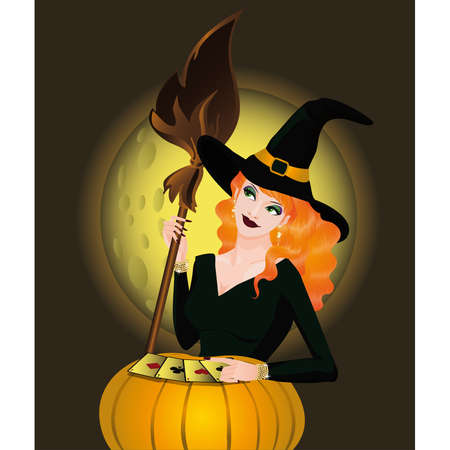 bewitched: Casino halloween card,