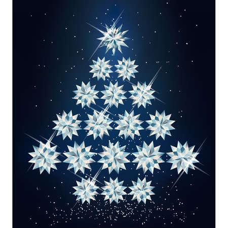 Christmas diamond tree.  illustration  Vector