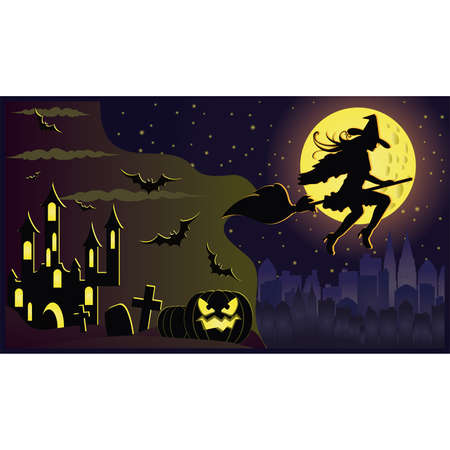 Happy Halloween card Stock Vector - 7999461