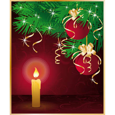 Merry Christmas greeting card. illustration Vector