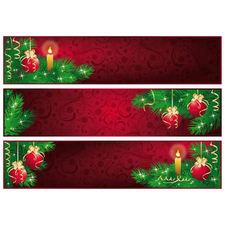 Christmas banners. Seasonal theme banner for your advert text.    illustration Stock Vector - 8053391
