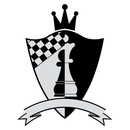 tablero de ajedrez: Cresta de ajedrez. Ilustraci�n