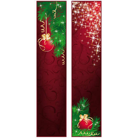 Vertical christmas banners.   illustration Vector