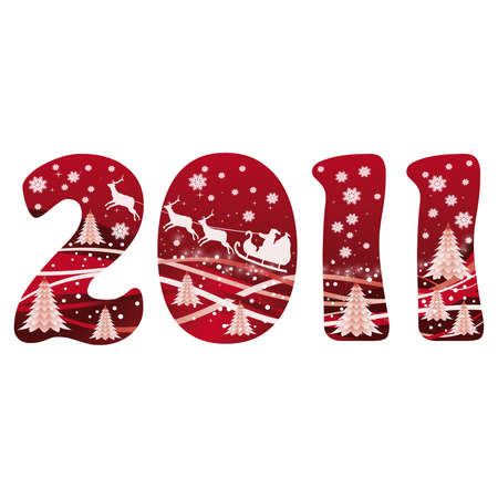 2011 New year´s card with santa claus. vector  Vector