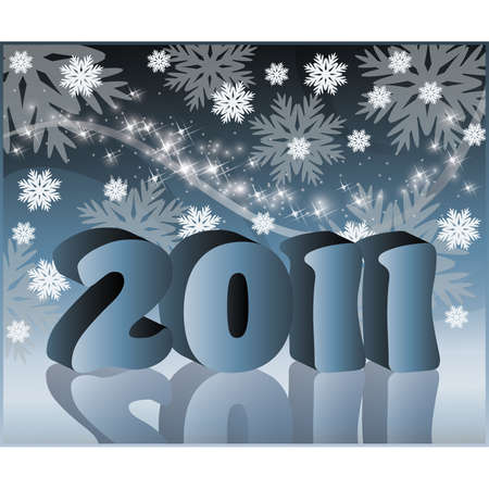 year 3d: 2011 new year ( 3d rendered ).  illustration