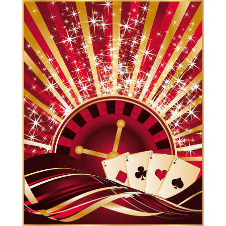 Casino greeting card  Stock Vector - 8128601