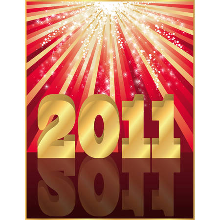 2011 New year greeting card  일러스트