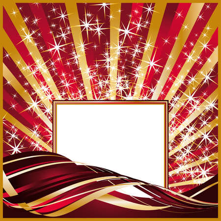 Frame for photo or invitation for holiday  Vector