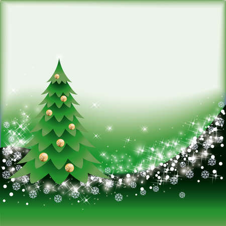scrapping: Green christmas card