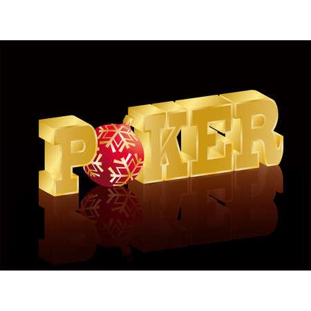 Poker christmas banner  Stock Vector - 8128614