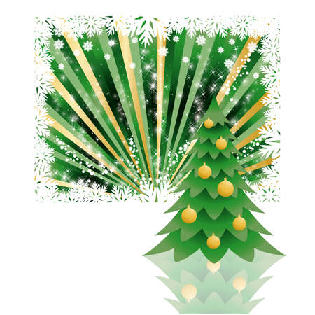 Background tree christmas  Stock Vector - 8128616