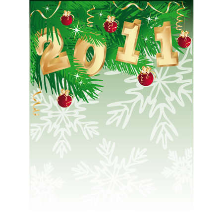 2011 new year banner  Vector