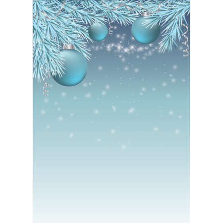 Winter card with christmas balls.   illustration Vector
