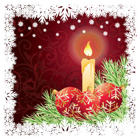 Christmas and New Year greeting card  Stock Vector - 8251426