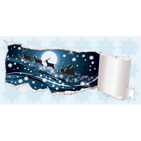 Christmas banner and Santa Claus.   illustration Stock Vector - 8251429