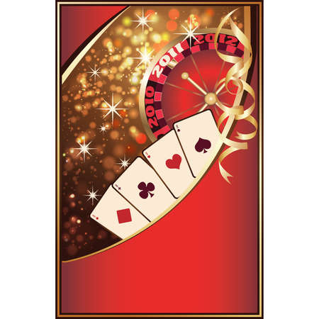Casino Christmas invitation card  illustration Stock Vector - 8251433