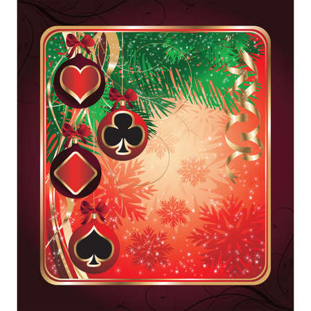 Christmas Poker greeting card.   illustration Stock Vector - 8320239