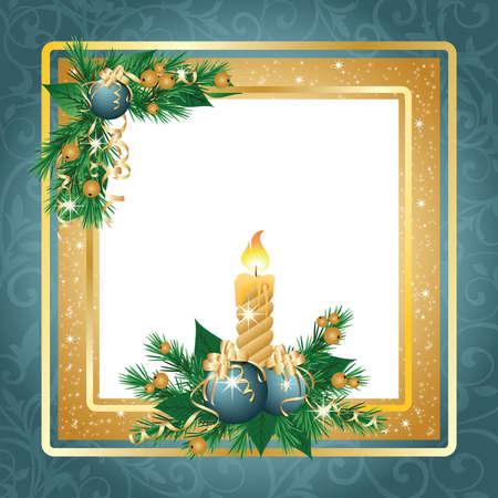 New year framework or invitation card Vector