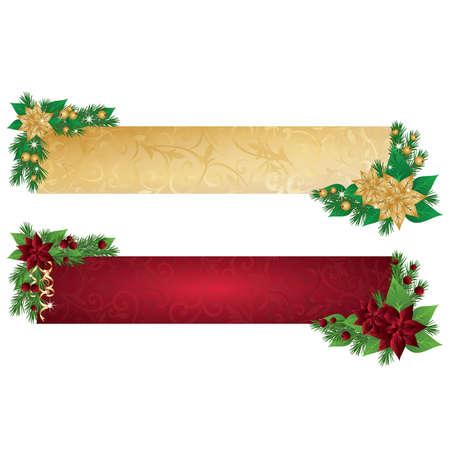 bear berry: Christmas banners, illustration  Illustration