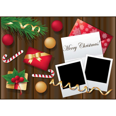Two framework for christmas photo. vector illustration Vector