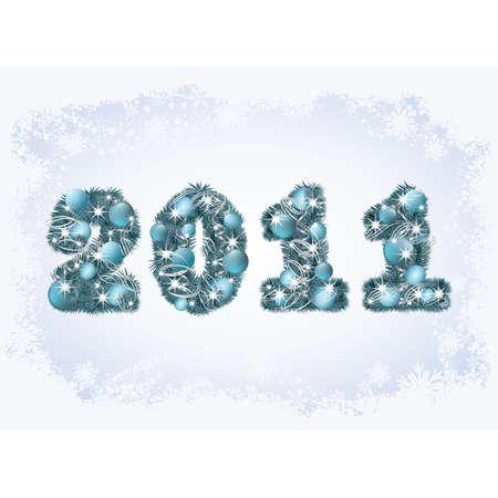 New 2011 year. greeting card. vector illustration Vector