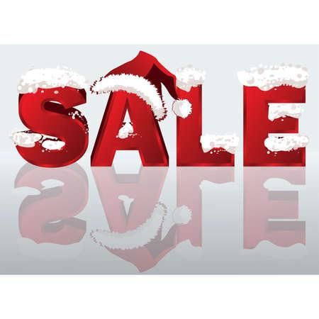 kerst markt: Winter verkoop banner in 3D-beeld. vector illustratie