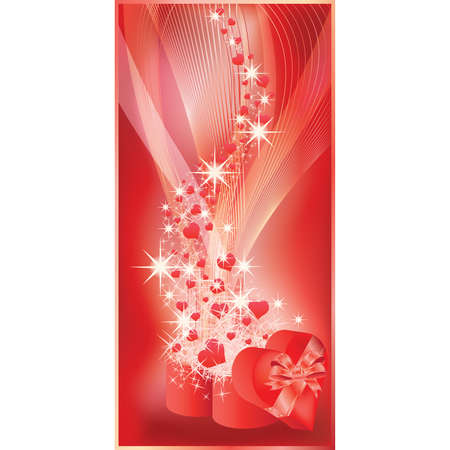 curare teneramente: Banner di amore per il giorno di San Valentino o matrimonio. illustrazione Vettoriali