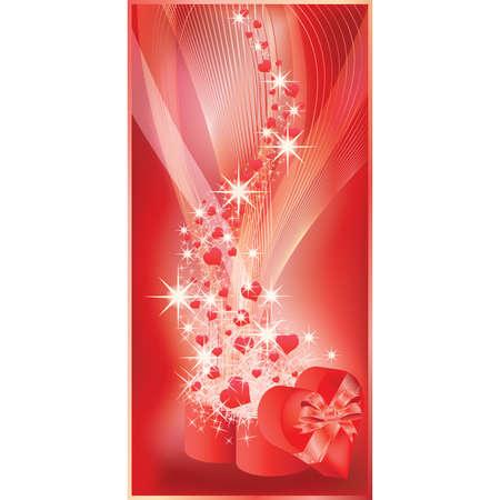 wedding card design: Love banner for valentines day or wedding. illustration
