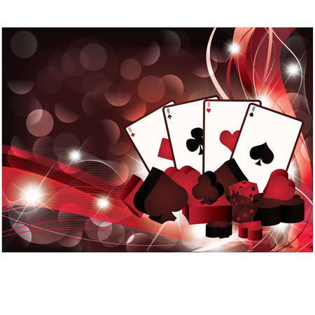 Casino background with poker cards Vector