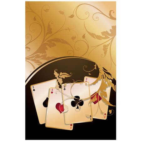 betting: Poker background. vector illustration