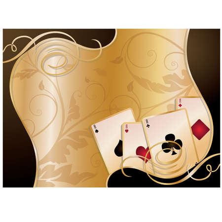 Gambling poker vector illustration Stock Vector - 8976900