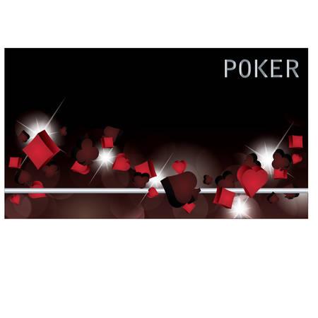 cartas de poker: Banner de p�ker. ilustraci�n vectorial