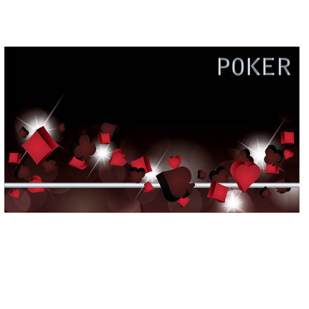 ace of diamonds: Poker banner. vector illustration