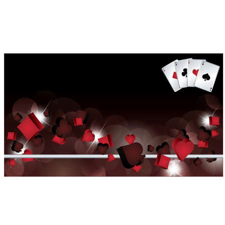 attainment: Casino banner with poker elements. vector illustration