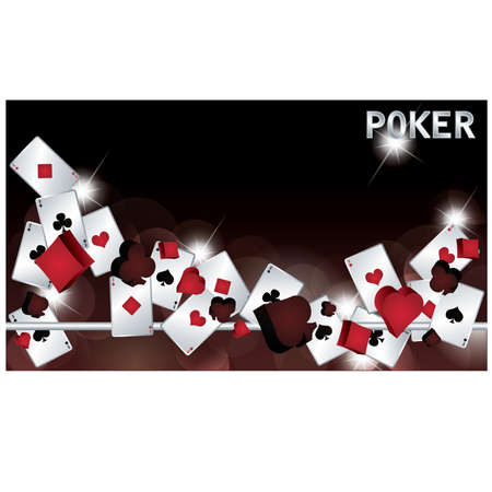 ace hearts: Poker banner. vector illustration