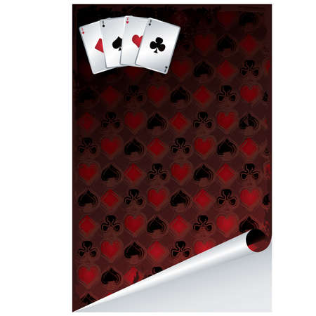 Poker background, vector illustration Vector