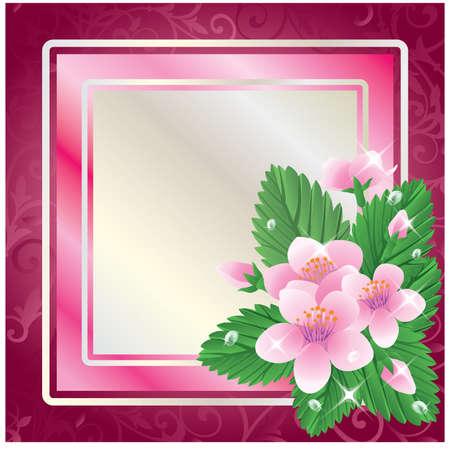 Spring floral frame Vector
